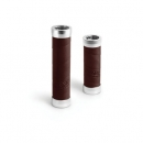 BROOKS Griffe Slender Leather Grips - brown