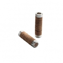 BROOKS Griffe Plump Leather Grips - brown